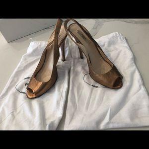 Prada fold slingback sandals